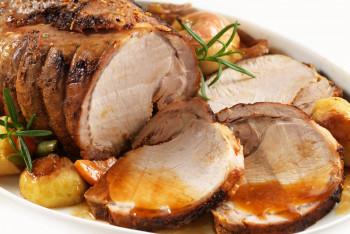 Rôti de porc filet cuit en tranches